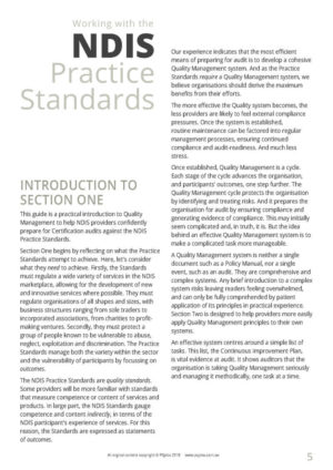 Audit Guide: Working with the NDIS Practice Standards