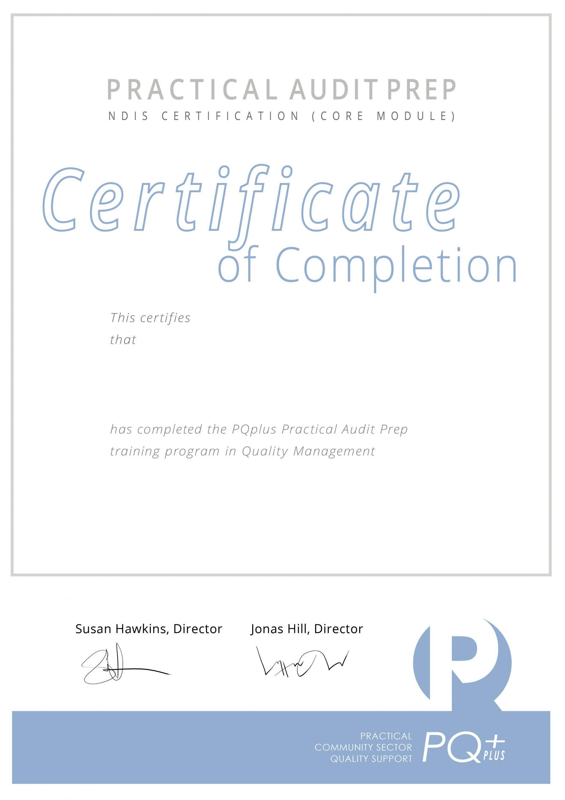 Practical Audit Prep Certificate